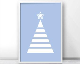 Instant Download Christmas Print, Download Printable Christmas Wall Art, Digital Art Holiday Decor, Christmas Tree Print, 8X10 Print