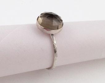 Smoky Quartz Ring, Size 8.5