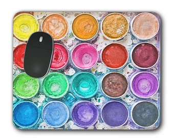 Custom Mouse Pad - Colorful Watercolor Photograph - Mouse Pad - Great gift for Artists
