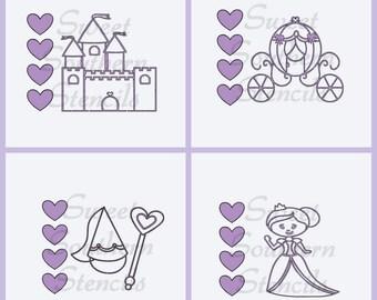 PYO Princess Cookie Stencils (4 separate stencils)