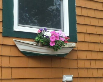 window box boat style mounts on any flat surface boat style planters flower - Window Box Planters
