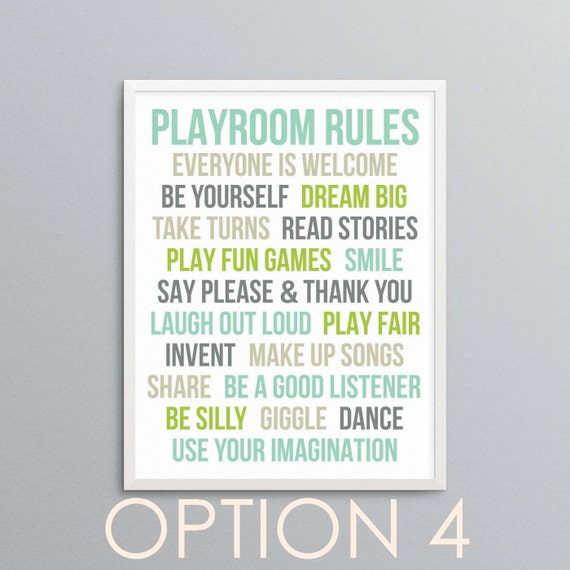Funny Bedroom Quotes Bedroom Colors For Man Two Bedroom Apartment Design Lime Green Bedrooms For Girls: Playroom Rules Fun Quotes And Rules For Playroom Or Bedroom