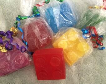 Lego bath soaps!