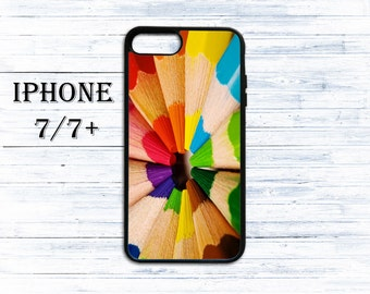 Colour pencils phone cover for iPhone 4/4s, iPhone 5/5s/5c, iPhone 6/6+, iPhone 6s/6s Plus, iPhone 7/7+ phones - gift idea case for iPhone