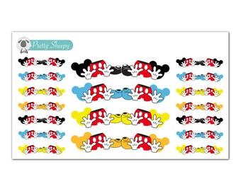Mickey Banner Stickers - Disney Planner Stickers