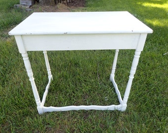 Vintage White Table-see descrption for shipping info
