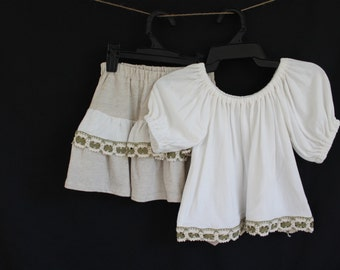 Organic cotton and hemp skirt and top