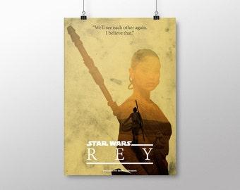 "PRINTABLE Star Wars Poster ""Rey"""