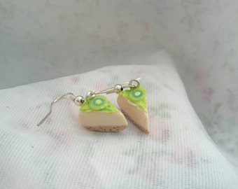 Kiwi and lime cheesecake earrings