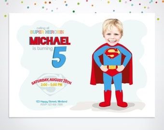 Superhero Invitation, Superman Party Invitation