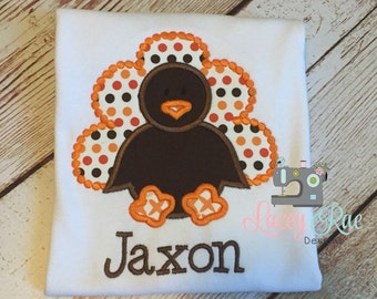 Turkey appliqued shirt, Thanksgiving shirt, Fall shirt