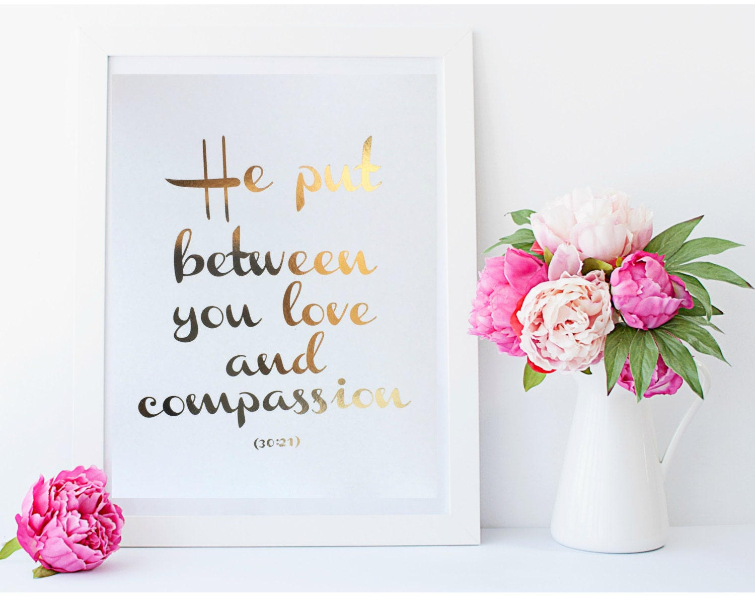 real gold foil print he put between you love and