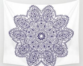 Purple Mandala Wall Tapestry Yoga Meditation Mandala Wall Hanging