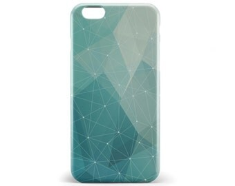 1379 // Geometric Green Blue Phone Case iPhone 5/5S, 6/6S, 6+/6S+ Samsung Galaxy S5, S6, S6 Edge Plus, S7