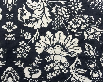 Black Ivory Floral - Poly Spandex - By The Yard