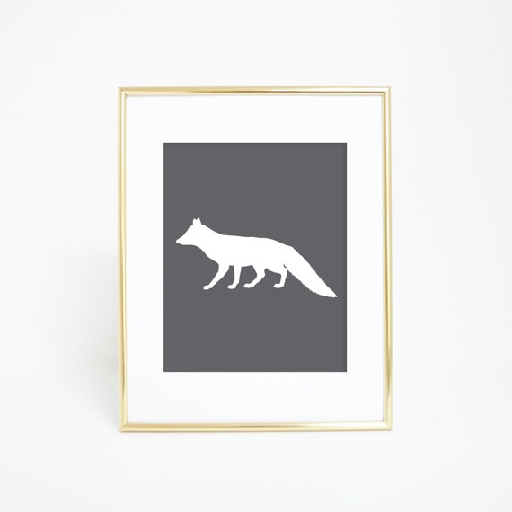 Printable Wall Print, Fox Print, Gray Fox Prints, Printable Fox, Home Print, Digital Prints, Downloadable Art, Gray Fox Art, Home Decor