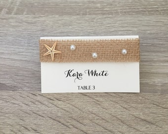 Starfish place cards | Etsy