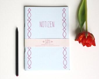 "50% OFF - SALE - Notebook ""Sámi"", Journal, diary, white paper, illustration folk art"