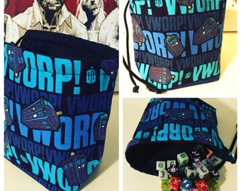 Doctor Who Drawstring Dice Bag