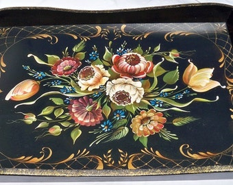 1950s Floral Tray