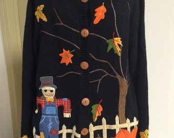 Fall Harvest Cardigan Sweater , size small