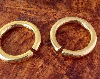 Gold plated hoops ear weights