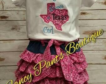 Cowgirl ruffle skirt with matching shirt