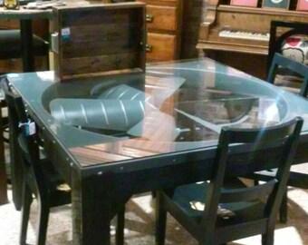 industrial fan dining table