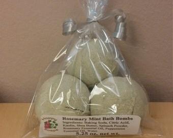 3 Pack Rosemary Mint Bath Bombs