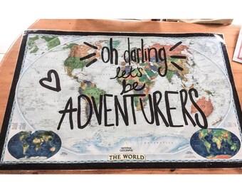 Adventurers world wall map
