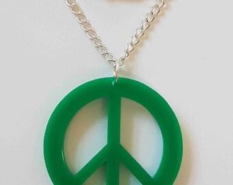 Peace Symbol Necklace - Acrylic
