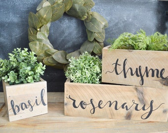 Rustic, Wooden, Herb Boxes