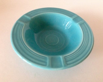 Vintage Fiesta Ashtray Colored Turquoise Blue