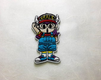 Arale Iron on Patch(M) - Arale Cartoon Applique Embroidered Iron on Patch- Size 4.0x7.5 cm