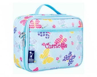 Personalized Classic Butterfly Garden Lunch Box