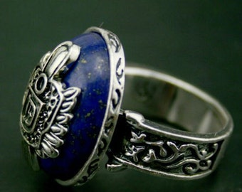 The Vampire Diaries Inspired Damon's Dark Blue Ring Version #2