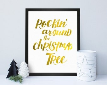 Rockin' Around / Christmas Print / Christmas Poster / Christmas Decoration / Wall Art / Christmas Home Decor