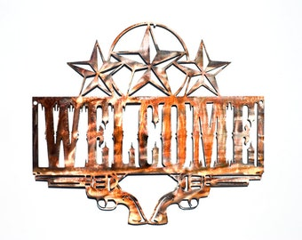 Western Welcome Pistols and Stars