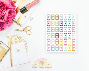 42 Phone Stickers | Colorful Icon Stickers | Planner Stickers designed for use with the Erin Condren Life Planner | 0602