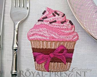 Machine Embroidery Design Cupcake
