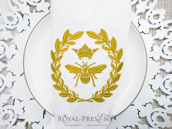 Machine embroidery design royal bee napoleonic from