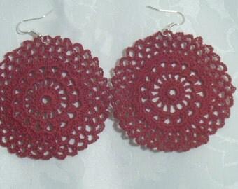 Indio red crochet earrings