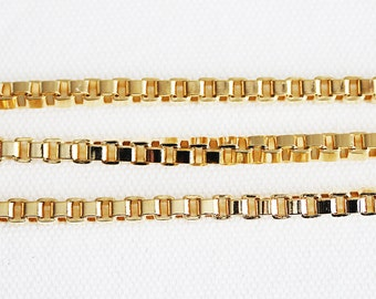 B5-149-G] Gold plated / 5mm / Box Chain / 1 meter