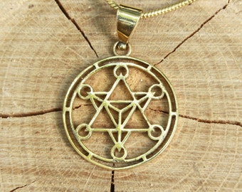Merkaba David Star Brass Pendant
