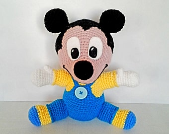 In Mickey amigurumi plush baby