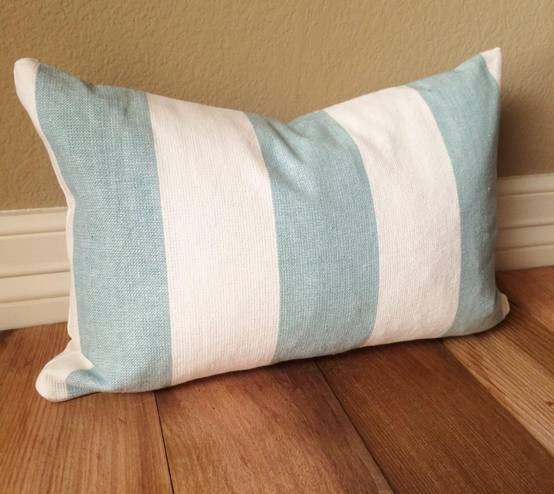 20 x 20 sham light blue wide stripe pillow cover by dwellables. Black Bedroom Furniture Sets. Home Design Ideas