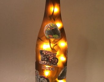 Ride With Pride Motorcycle Wine Bottle Light