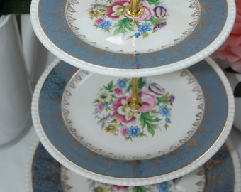 Cake stand plate 3 levels: vintage Soliam Ware