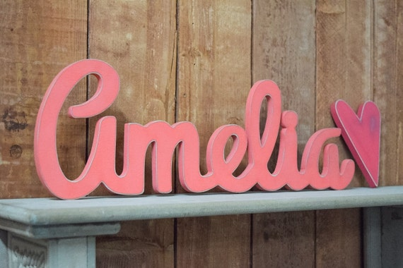Amelia Baby Name Wooden Sign Nursery Decor Baby Name Signs