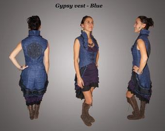Gypsy Vest - Blue